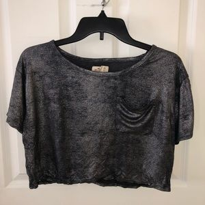 {4 for $25} glitter crop top